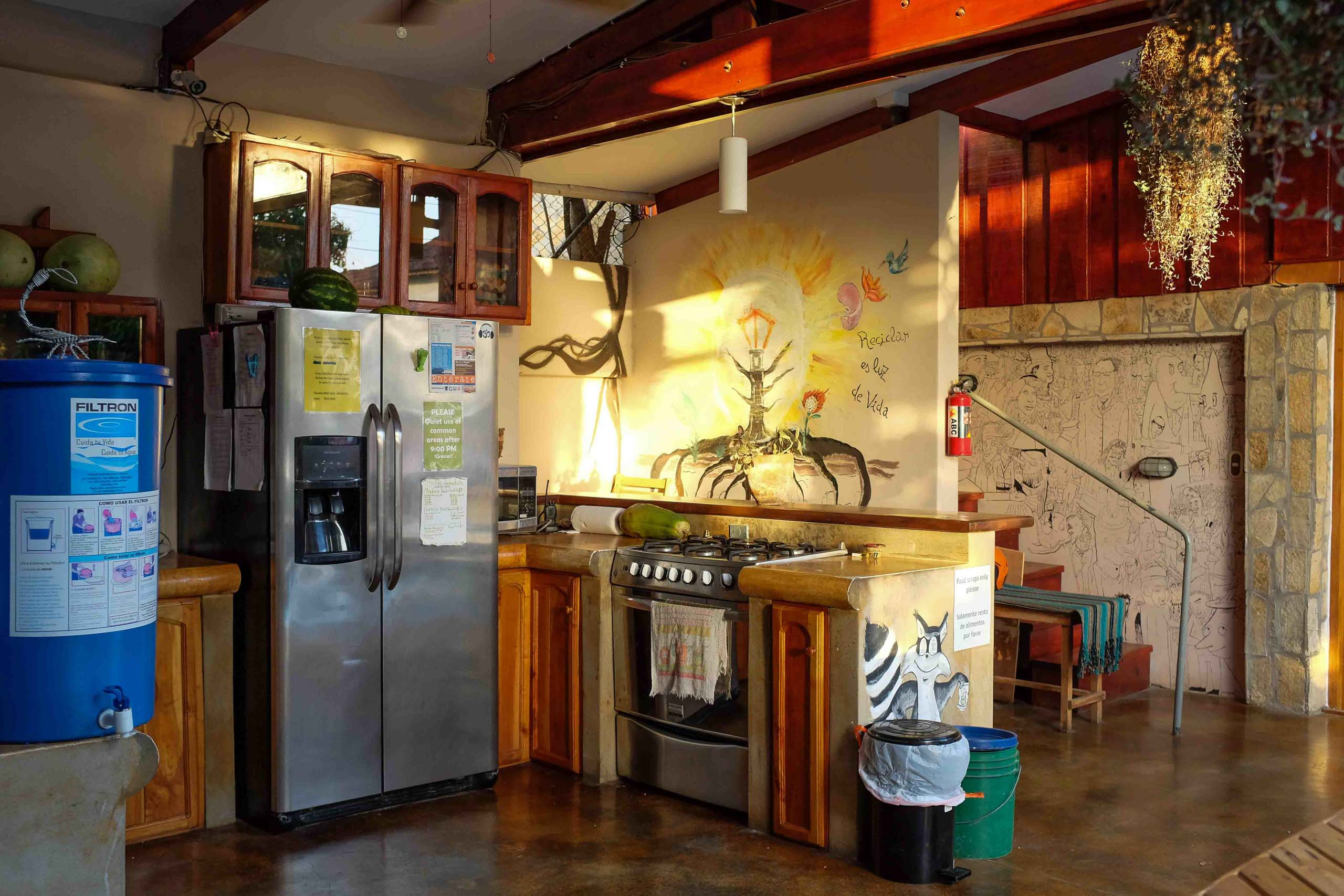 Casa Oro Group Nuestra-Casa-Eco-Guesthouse-San-Juan-Del-Sur-Nicaragua-Common-Area-Community-Kitchen-Free-Water-Eco-Tourism Nuestra Casa