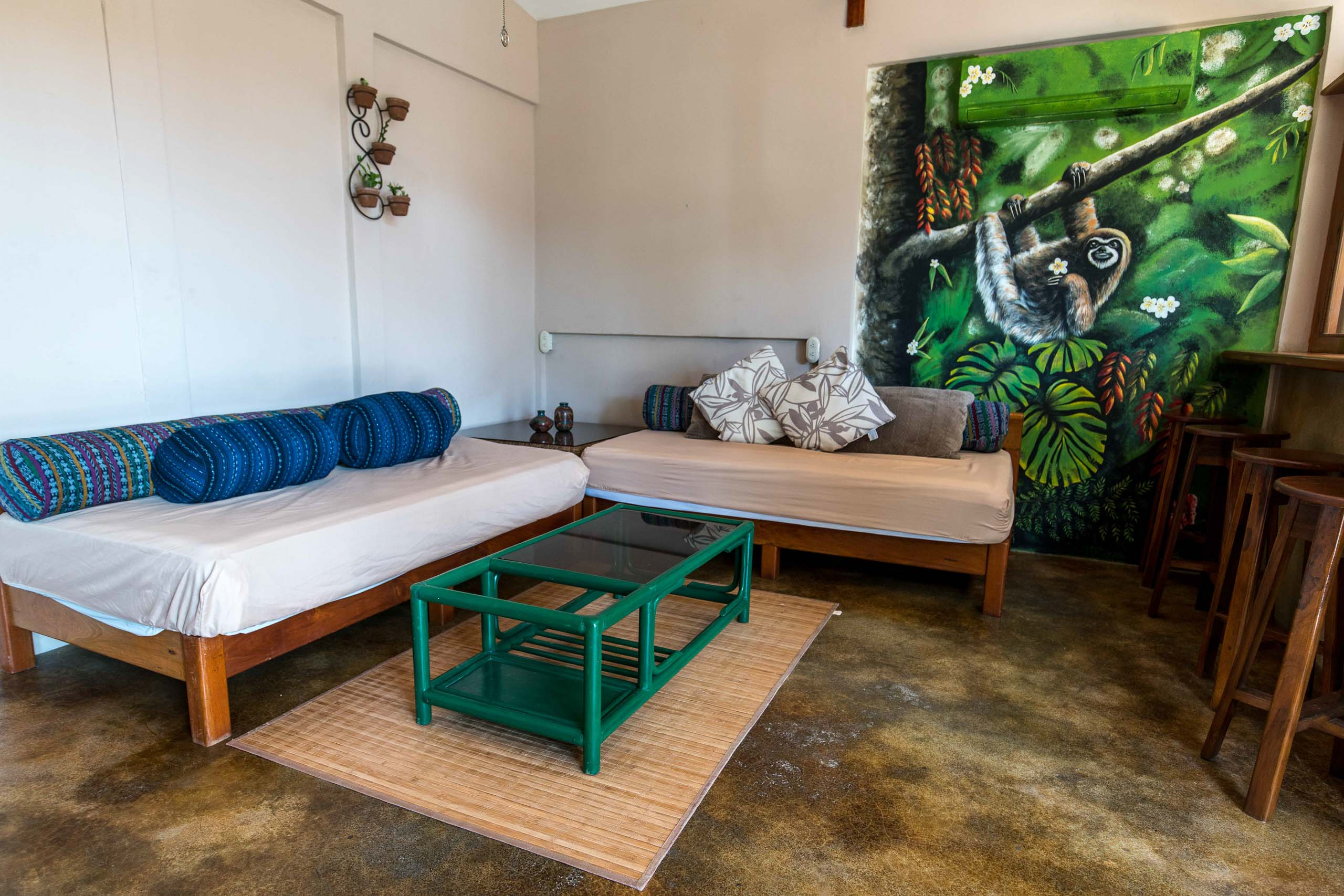 Casa Oro Group Nuestra-Casa-Eco-Guesthouse-San-Juan-Del-Sur-Nicaragua-Common-Area-Mural-Art-Nature-Inspired-Group-Travel Nuestra Casa